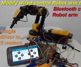 Bluetooth Robot Arm Using Single Motor Driver