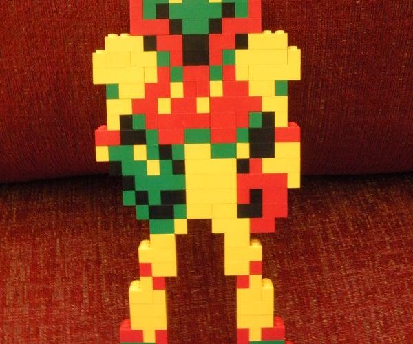 8-bit Lego Samus Aran