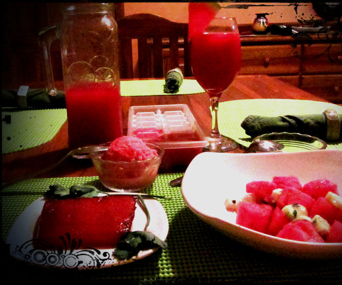 Full Course Watermelon Meal For Two!