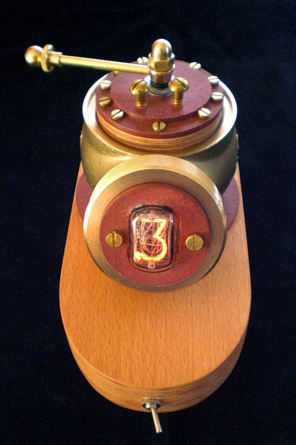 Steampunked Nixie-tube-switch