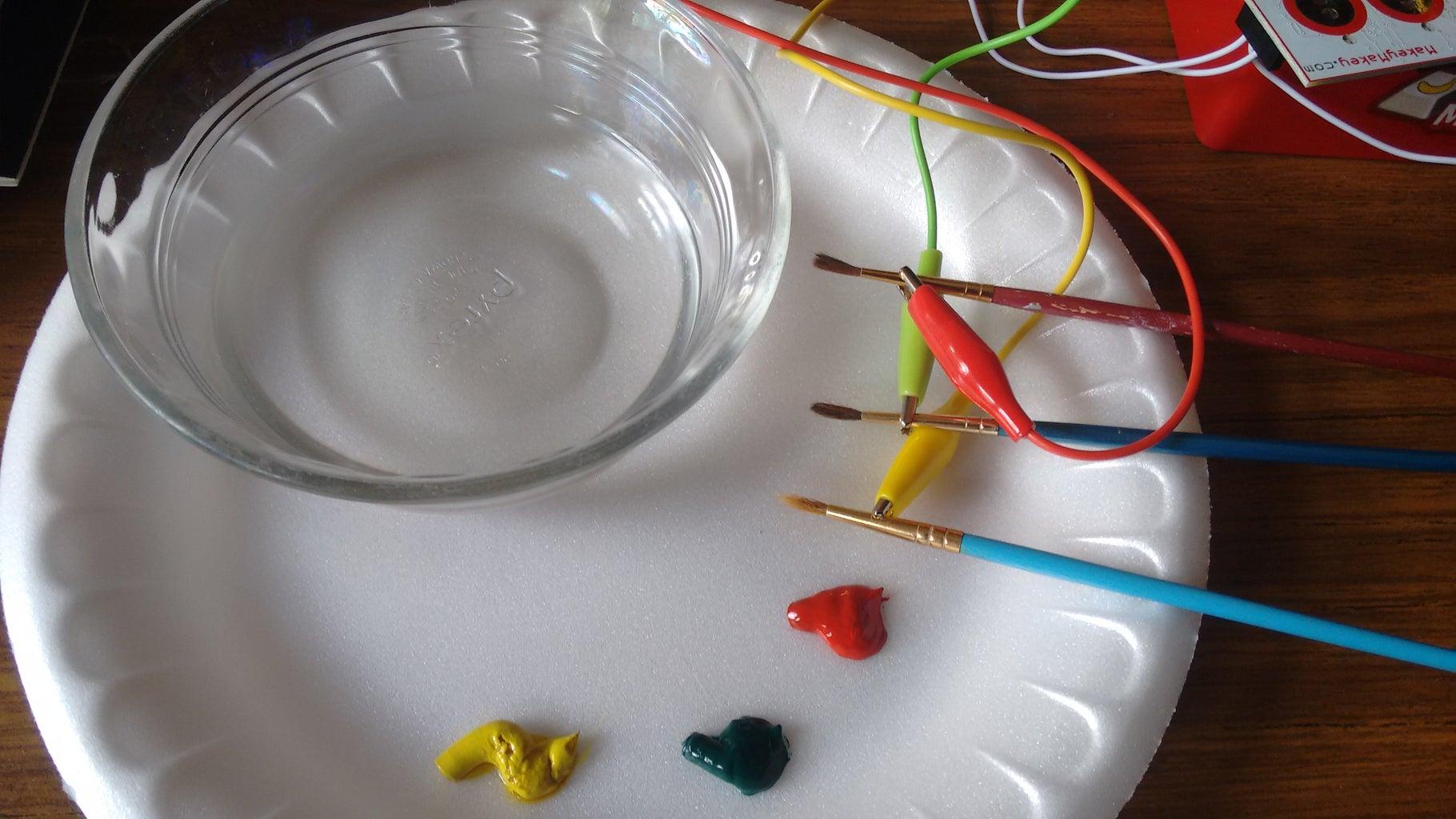 MaKey MaKey Audio Paintbrushes