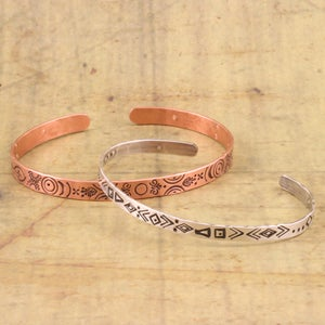 Say It on Your Wrist, Stamped Cuff Jewelry With Lisa Niven Kelly at Beaducation - Step by Step Jewelry Making Video Tutorial