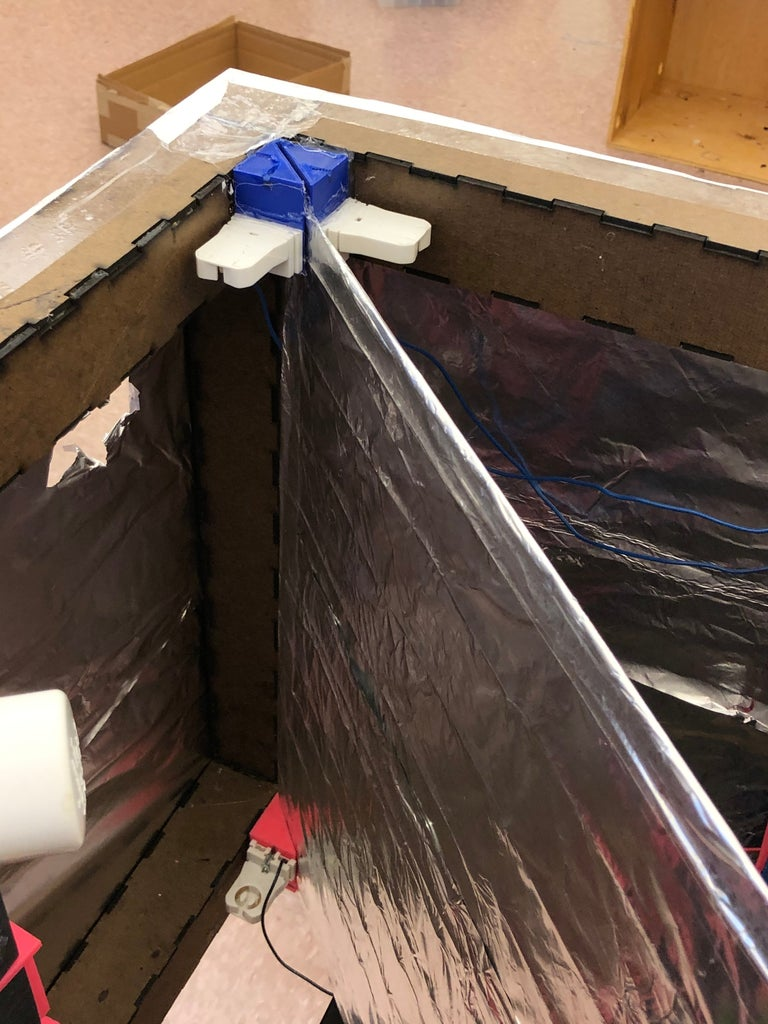 Install Reflective Wrap Around Box, Reflective Divider Across Box.