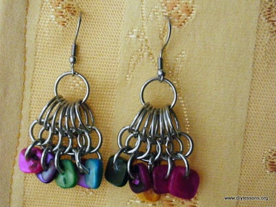 Finished Peacock Chain Earrings