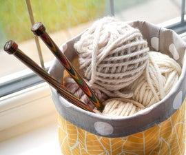DIY Fabric Bucket   Sew Your Own Yarn Storage Basket