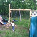 Homemade swing and slide