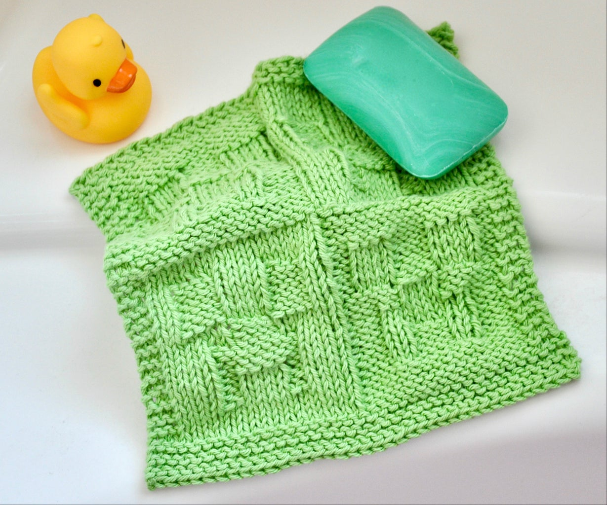 Knit Minecraft Creeper Washcloth
