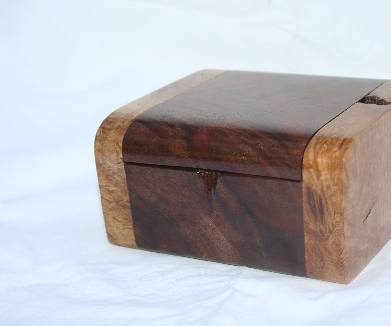 dogwood burl and walnut freehand pick box