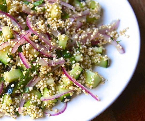 Sprouted Quinoa Salad