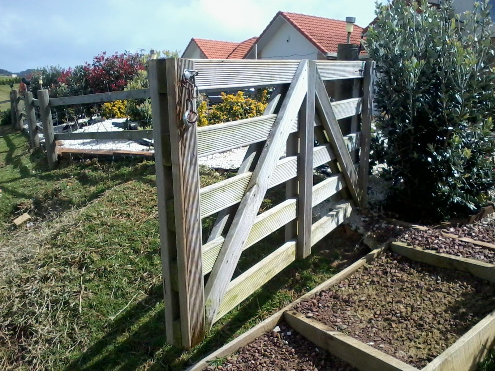 a simple garden gate