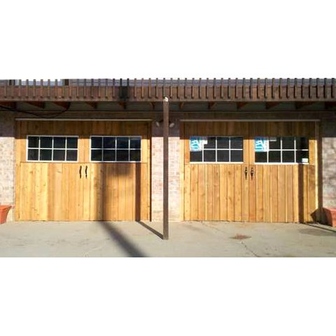"Homemade ""Carriage House"" Garage Doors"