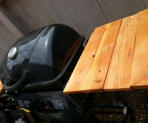 Charcoal Grill Conversion With Pallet Side Tables