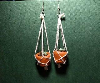 Living Succulent Hanging Earrings