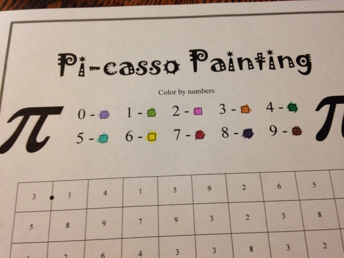 Assign Each Number a Color
