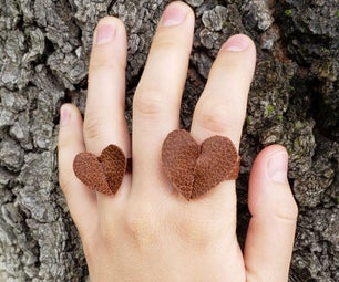 Leather Heart Ring (With Customizable Template)