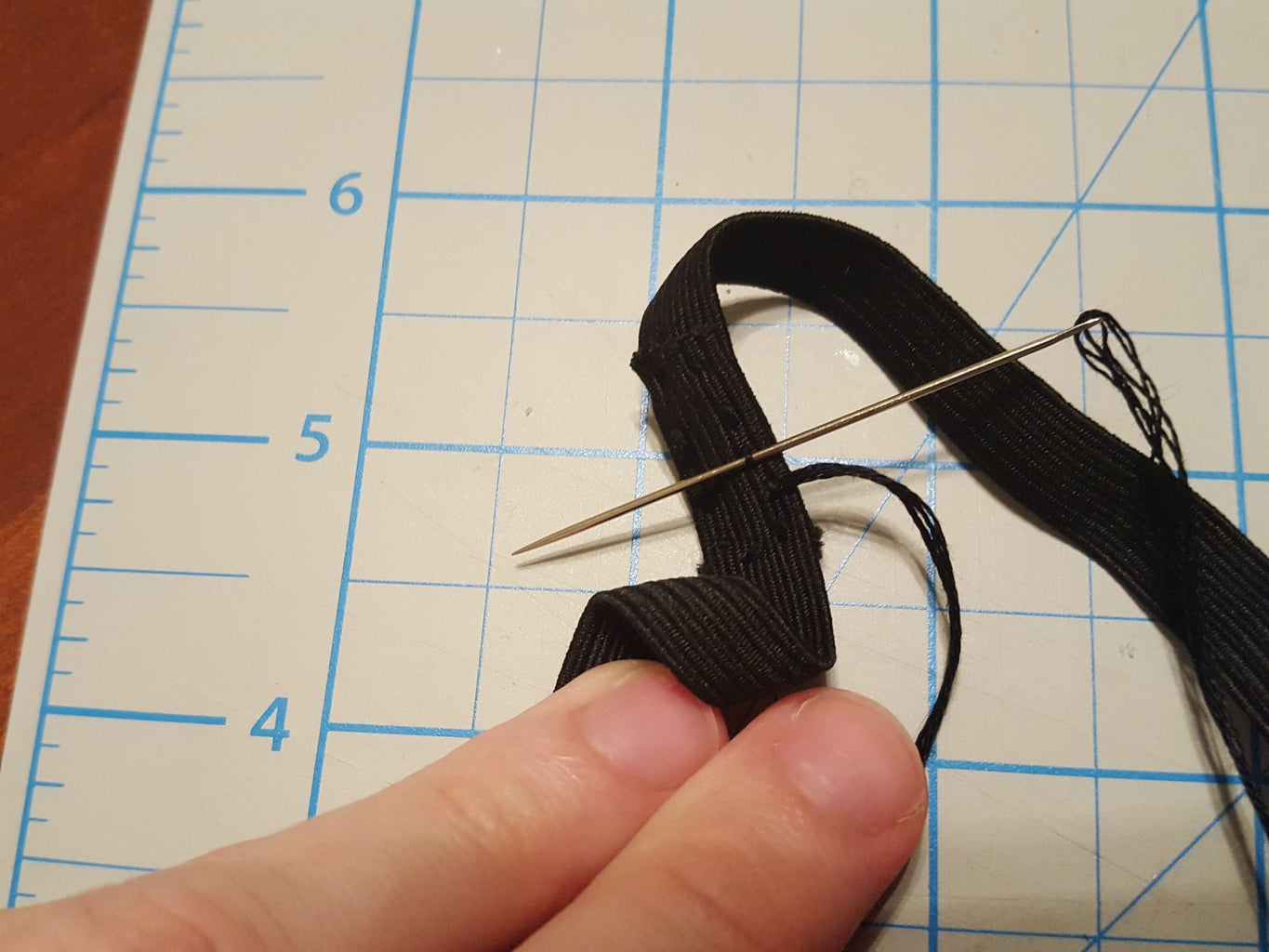 Sewing the Elastic