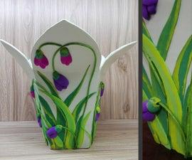 How to Make Cardboard Vase   Flower Vase