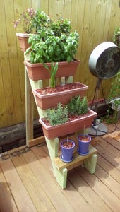 Window Box Planter Stairs