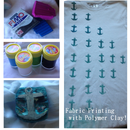 Fabric Printing with Polymer Clay!