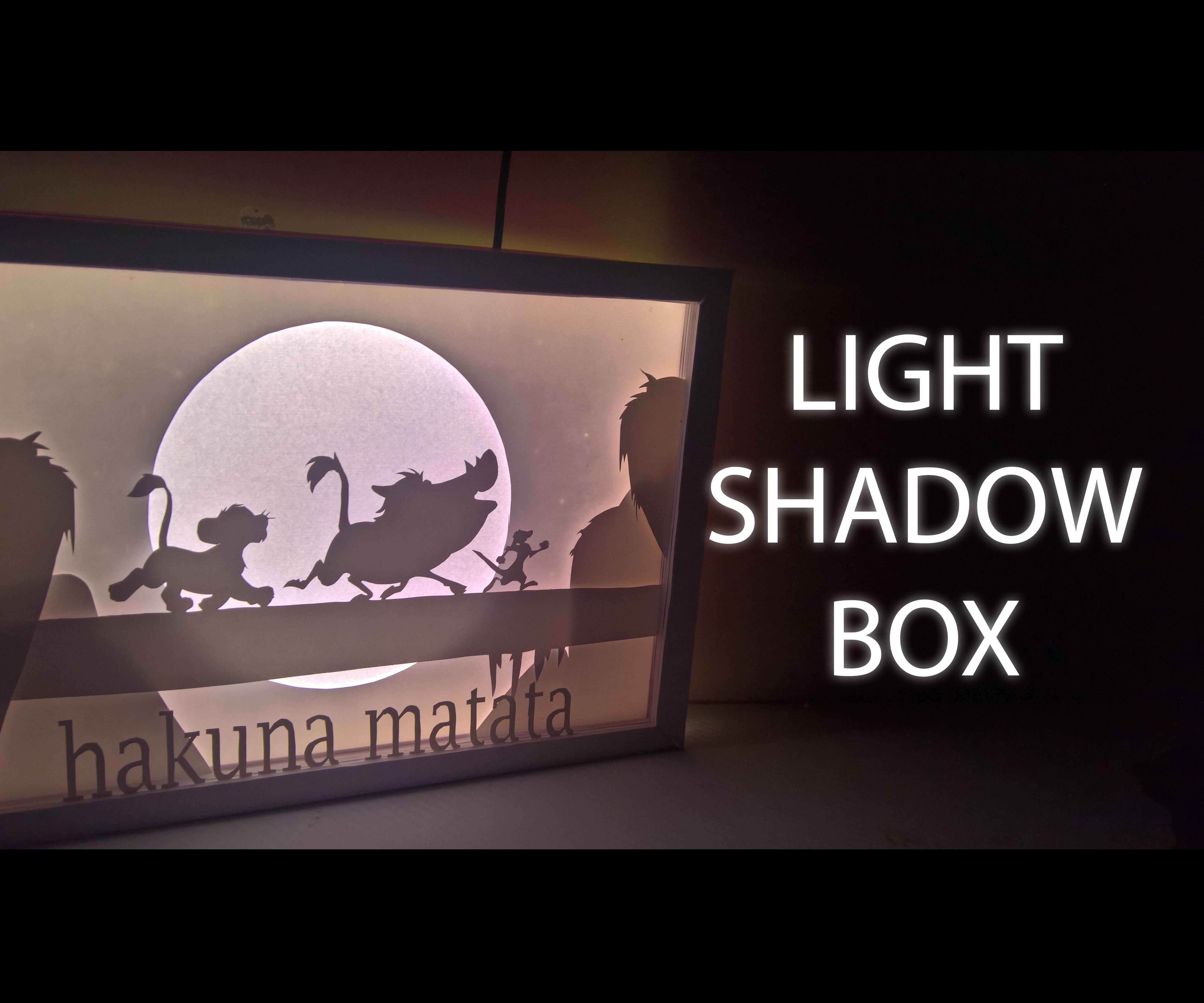 Lion King - Light Shadow Box