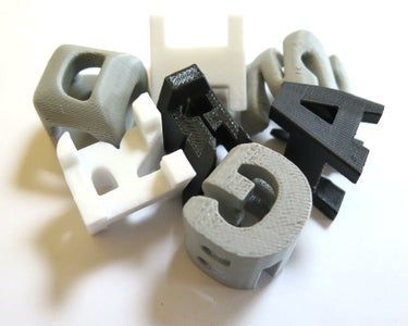 3D Letter Cube