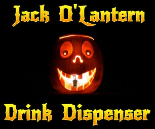 Jack O'Lantern Drink Dispenser