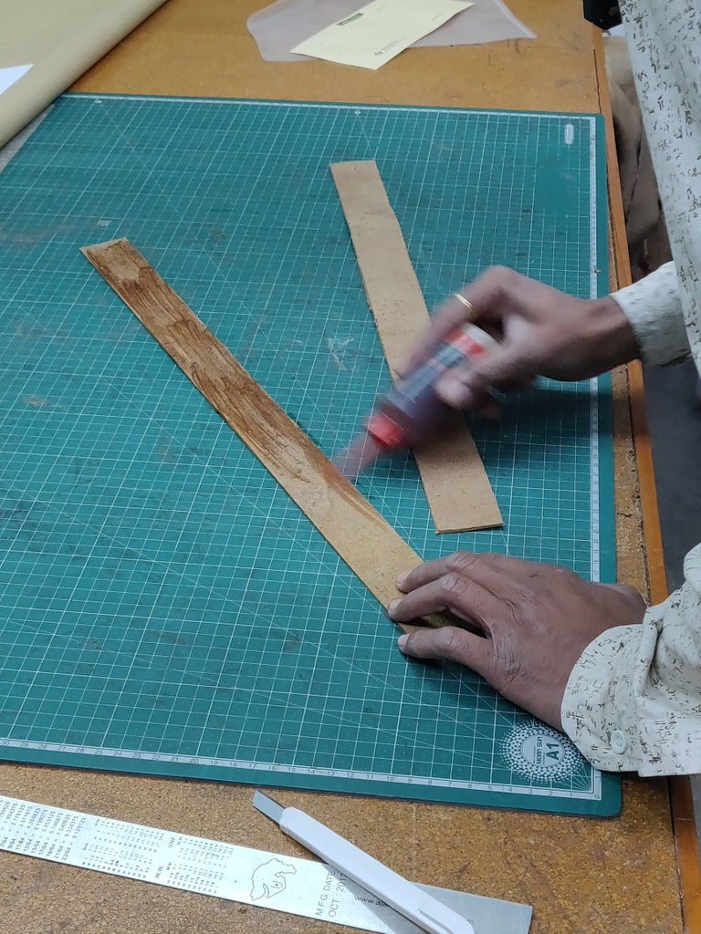 Leather Stitching Using Machine