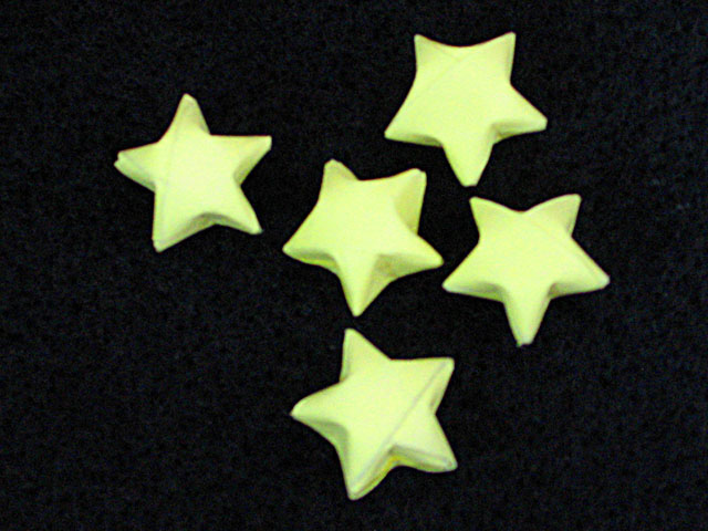 How to make lucky paper stars