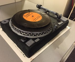 Technics Turntable DJ Cake (with Spinning Chocolate Record)