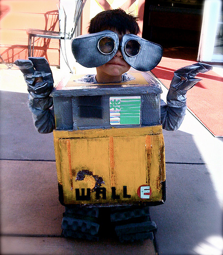 Building WALL-E and EVE Out of Mostly Recycled Materials.
