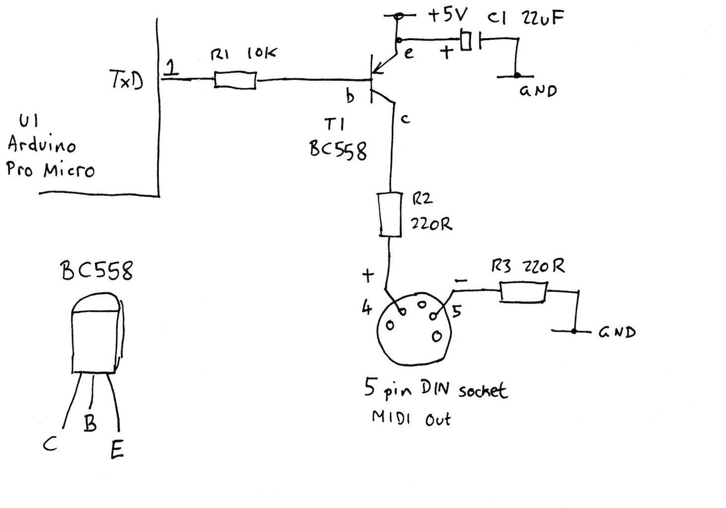 MIDI Output Circuit