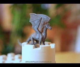 The Dragon for 3D-printable Modular Castle Playset