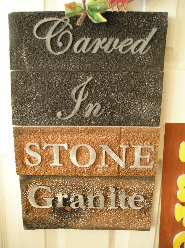 Make Foam Look Like Carved Granite!