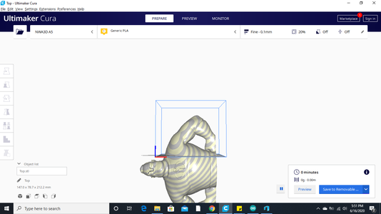 Split Arms Into Easier to Print Sections