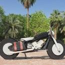 Wooden Model Harley-Davidson Motorcycle