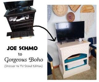Boho TV Stand Makeover