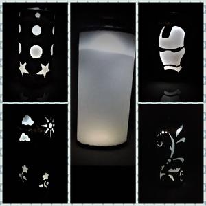 Stencil Lamp - One Lamp Many Shades