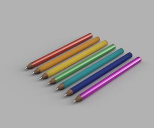 使用融合360在10分钟内创建一套彩虹铅笔