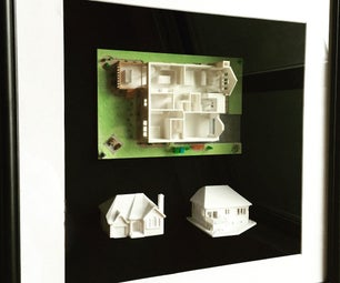 3D Printed House in a Frame