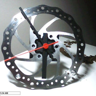 Make a Clock Out of a Bicycle Brake Disc