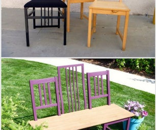 Making Three Chairs Into One Fantastic Bench