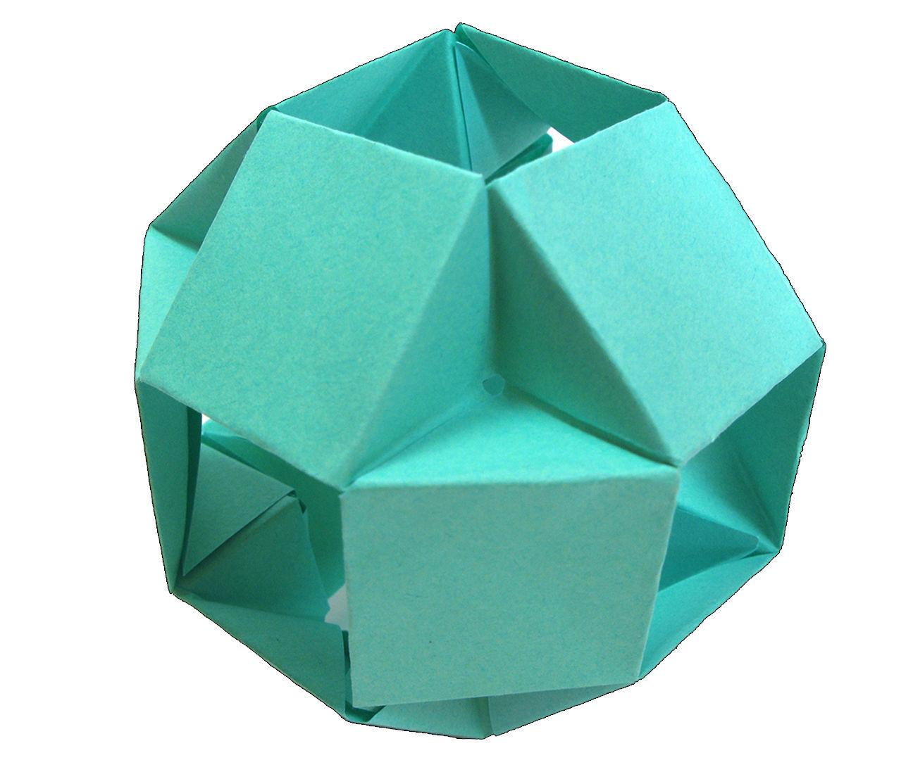 Modular Origami Ball Tutorial 12 Units