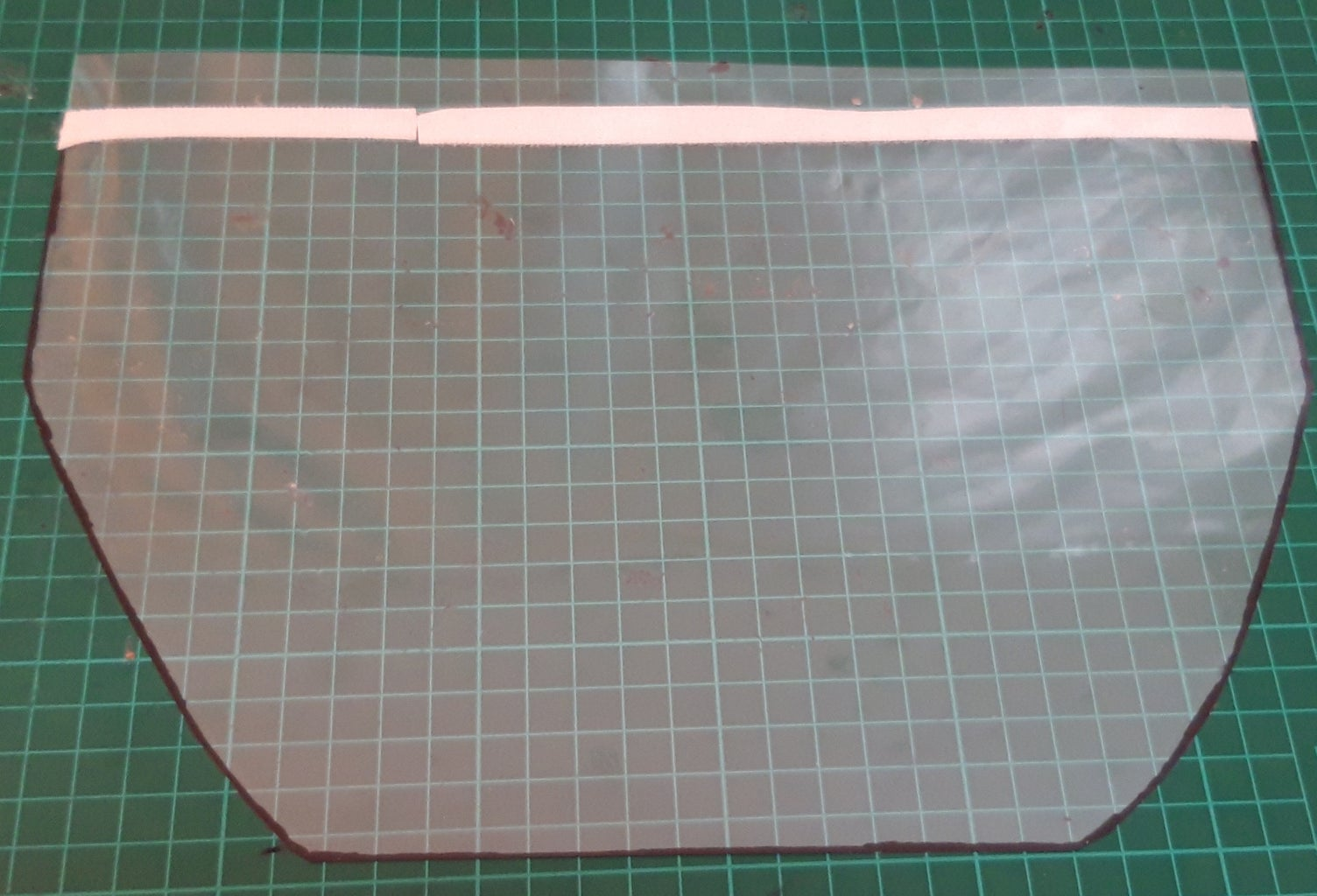 DESIGN #1: Cut and Paint the Acetate Sheet