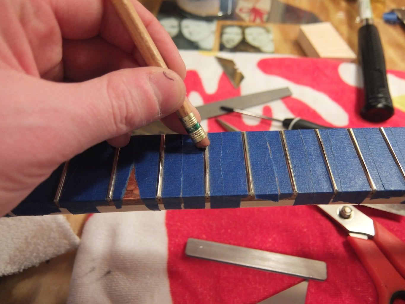 Dressing the Frets and Checking for Level