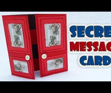 how to make Secret Message Card