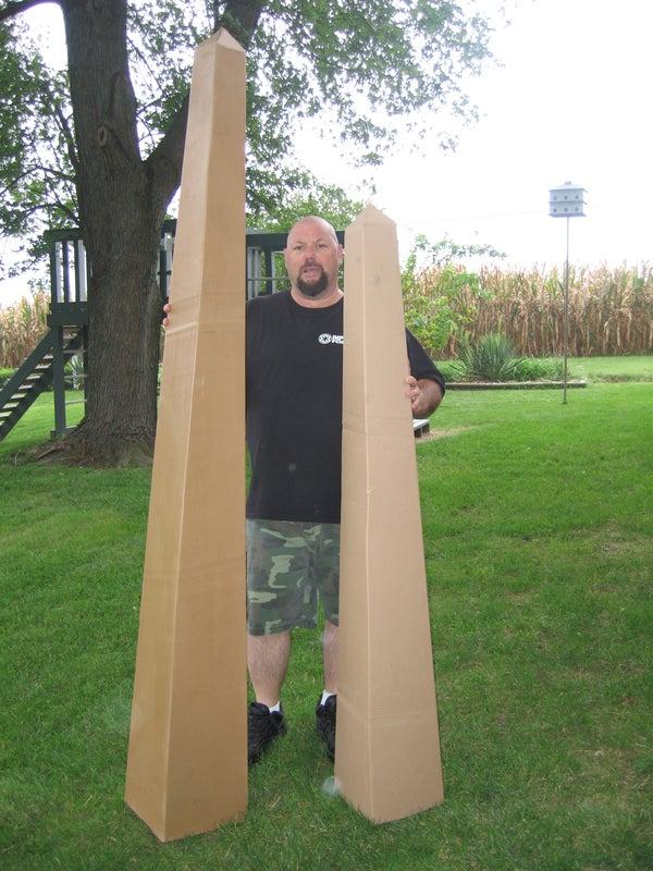 Graveyard Obelisks From Cardboard.