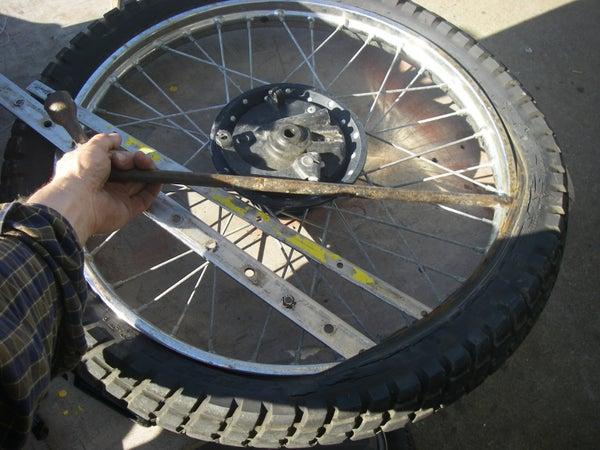 Fix a Motorcycle Flat Tire