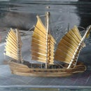 Ship in a bottle. Chinese junk