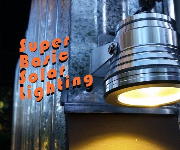 Super Basic Solar Lighting Under $75