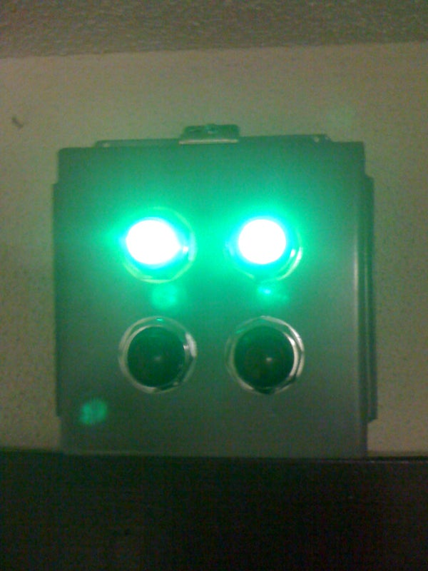 Bathroom Status Indicator Lights and Automatic Switch